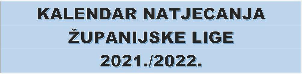 Kalendar županijskih liga