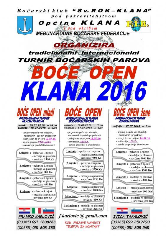 KLANA OPEN 2016