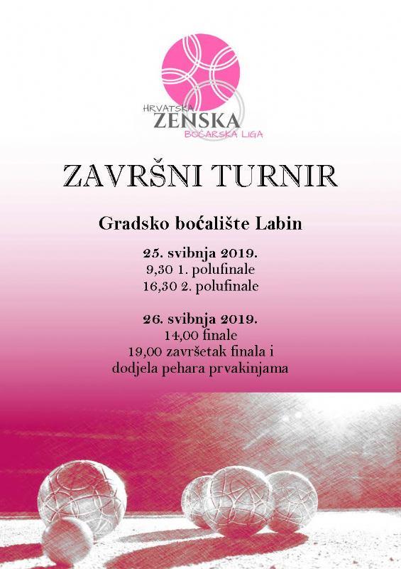Završnica Hrvatske ženske boćarske lige 2018./2019.