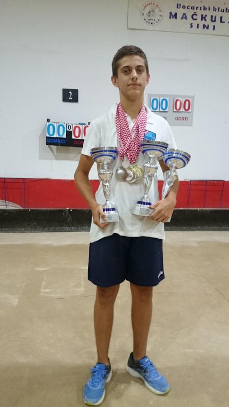 Filip Klarić trostruki juniorski prvak države
