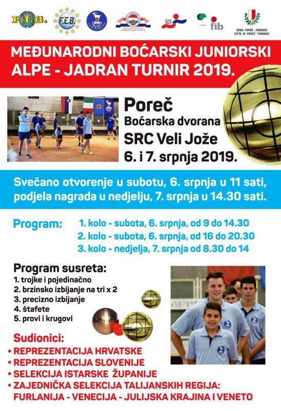 Međunarodni boćarski juniorski turnir Alpe – Jadran 2019