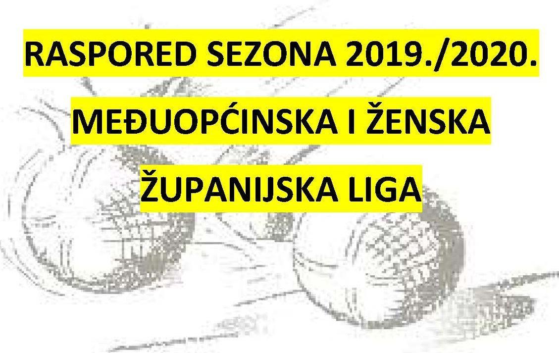 Raspored natjecanja Međuopćinske i Ženske županijske lige