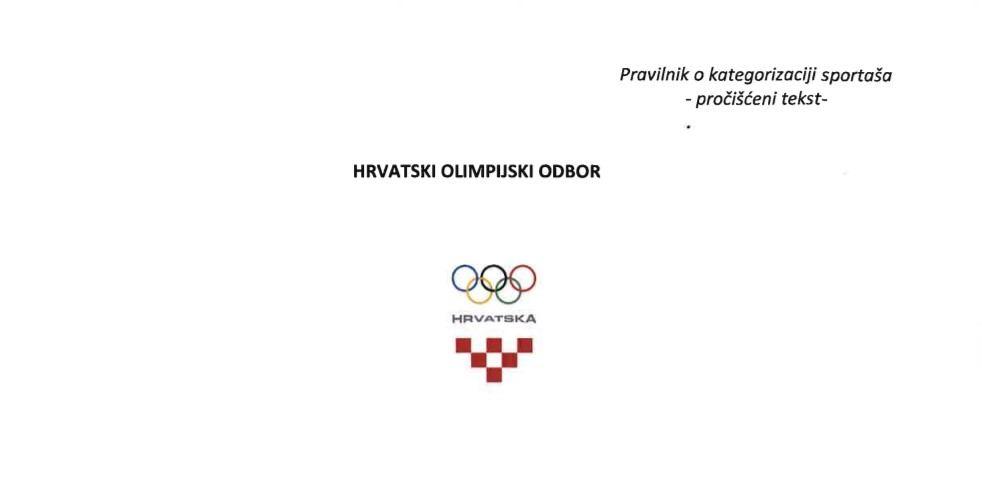 Izmjena i dopuna Pravilnika o kategorizaciji sportaša